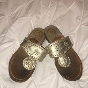 Girl's Jack Rogers. Gold. Youth Size 2.